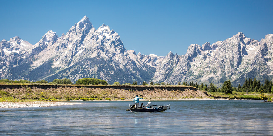 Fly Fishing the Tetons by SteveMokan on 500px.com