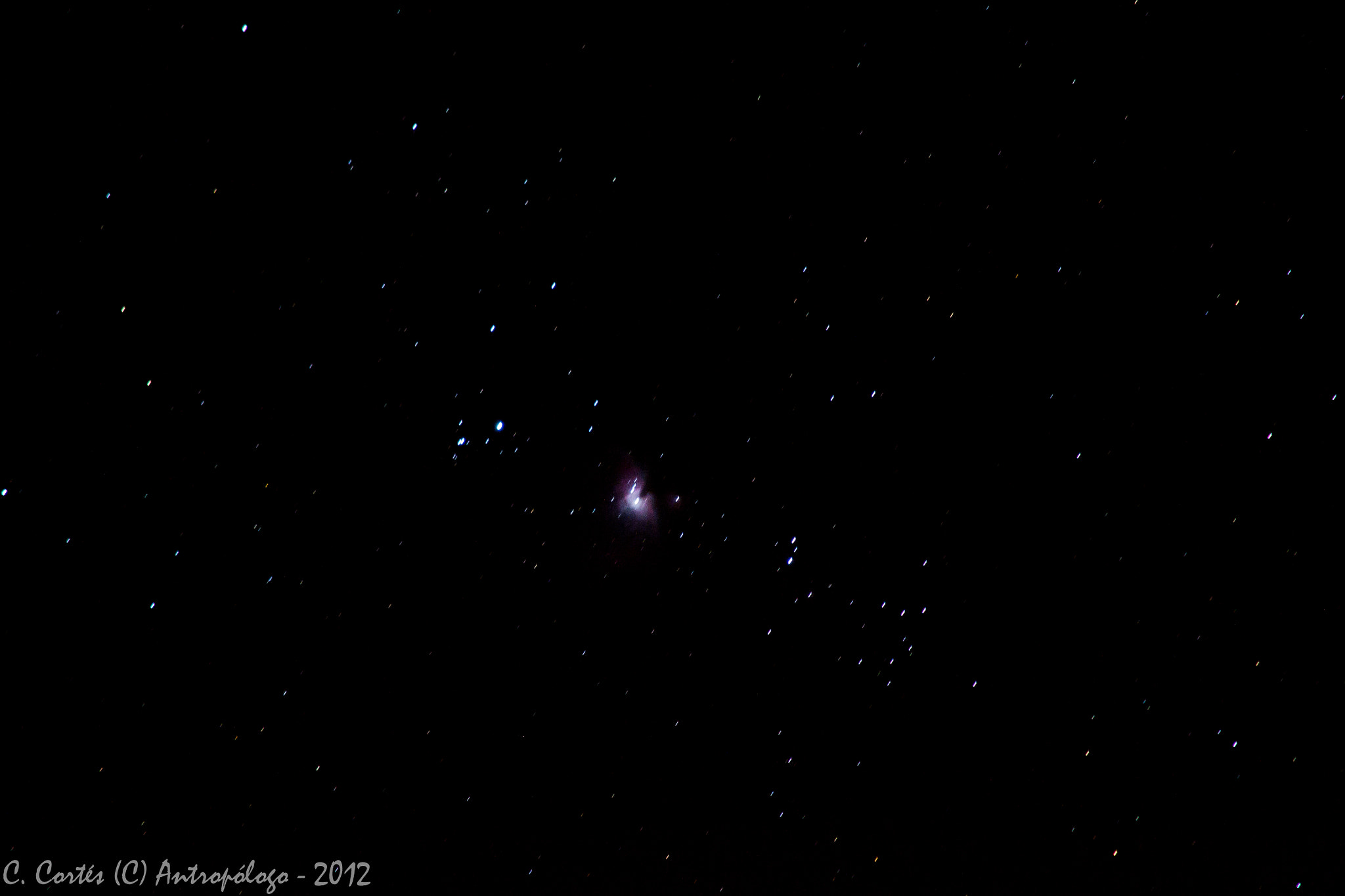 Photograph Nebulosa de Orion. by Claudio Cortes on 500px