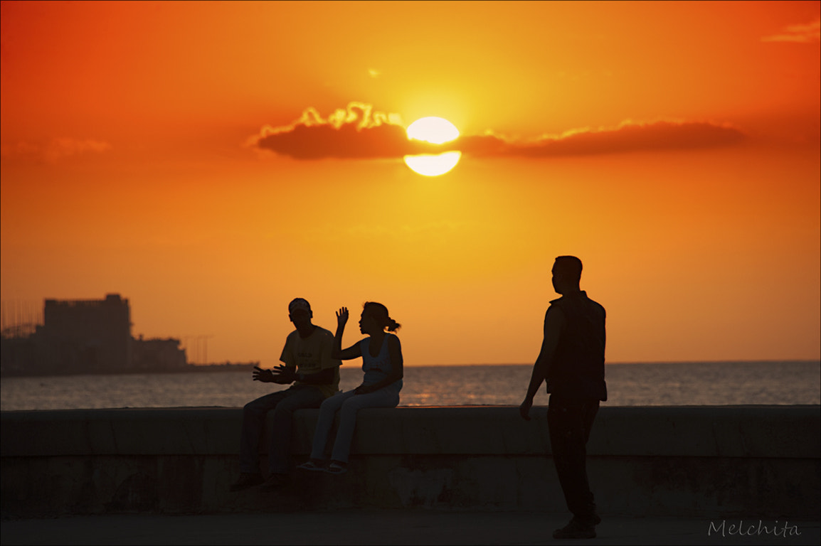 Photograph Sunset on the Malecon in Havana by Conchita Meléndez on 500px