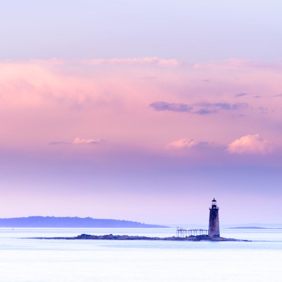 Sunset Over Ram Island Lighthouse