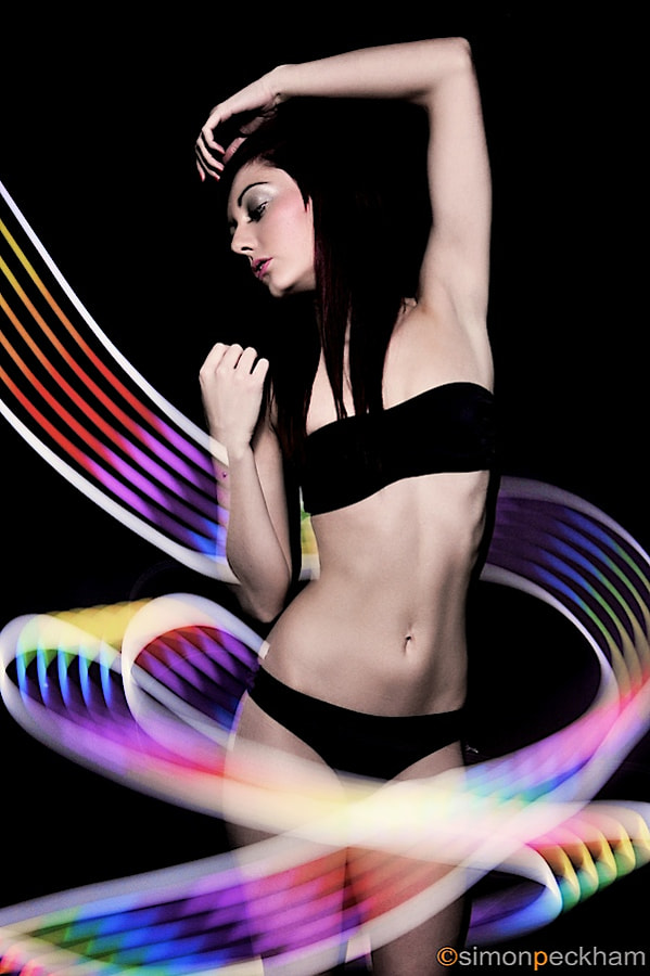 Light painting with Natalie.... phew not easy ...
