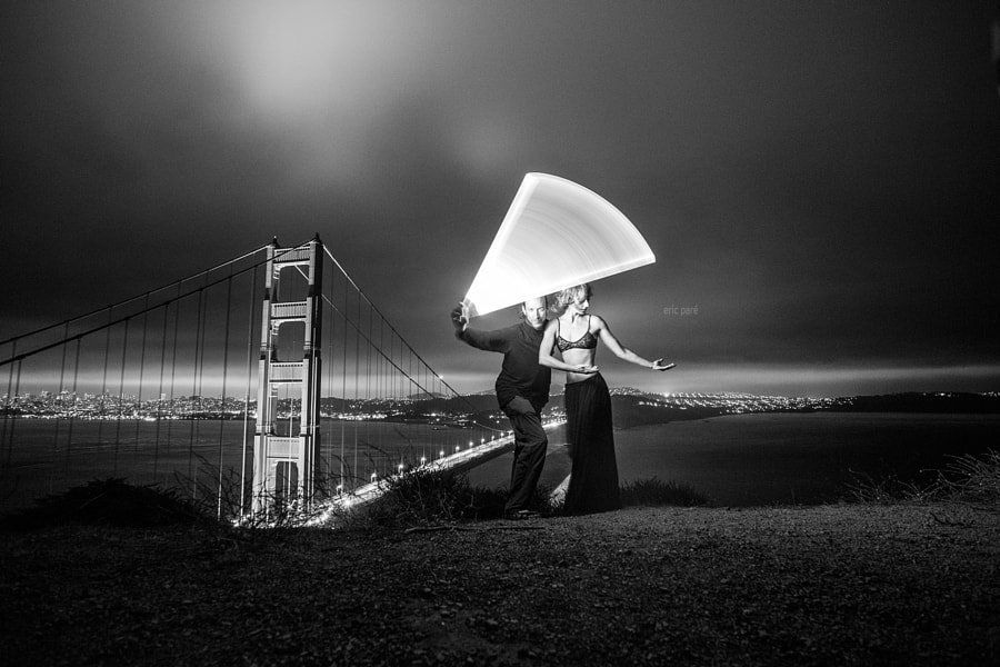 Light-painting tube - bts by Eric  Paré on 500px.com