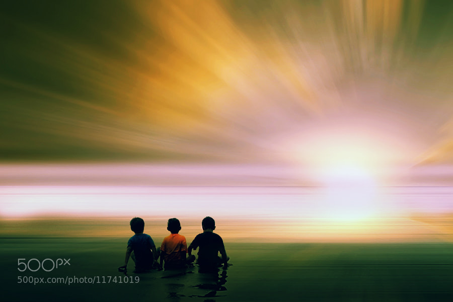 Photograph Sunset and 3 Boys by 3 Joko on 500px
