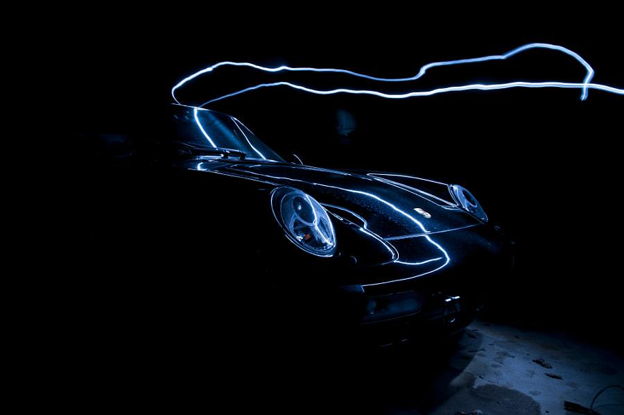 Porsche Light Painting