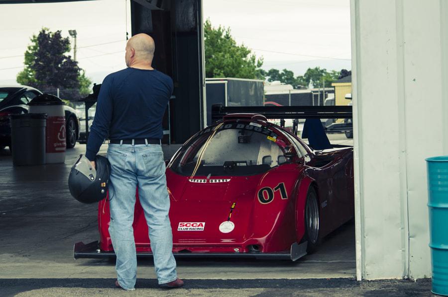 In the garages at Watkins Glen