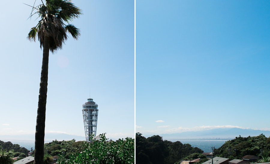 Enoshima lighthouse observation tower.