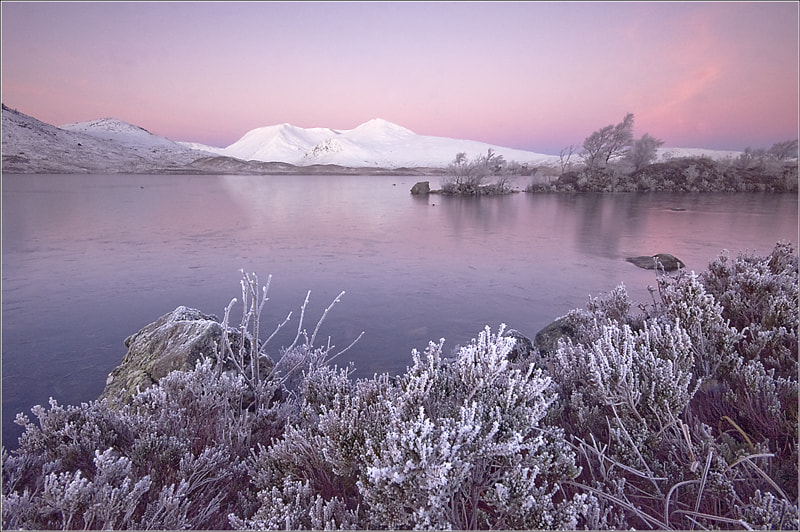 Photograph Pink glow on the Black Mount by Joe Higney on 500px