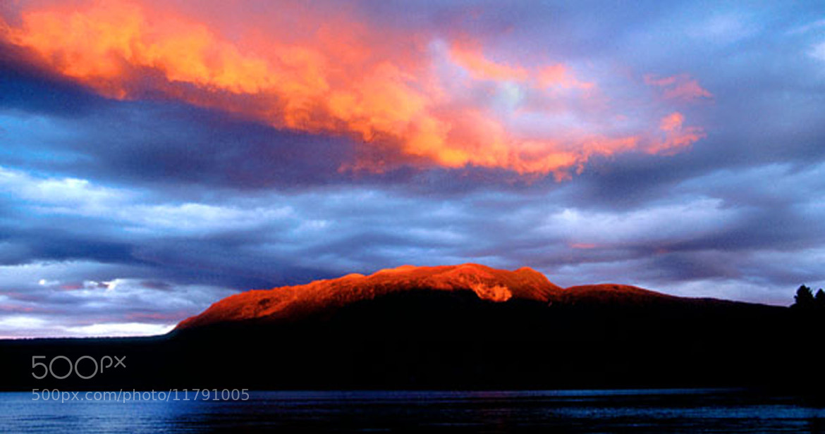 Photograph Mt Tarawera sunset by Craig Robertson on 500px