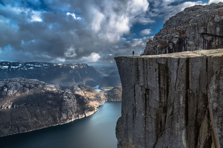 Alone, Preikestolen, Norway by Europe Trotter on 500px.com