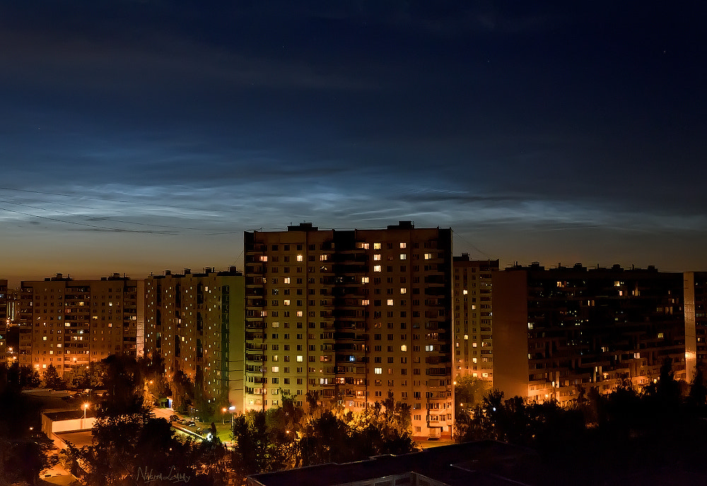 Photograph Noctilucent cloud in Moscow by Nikita Labai on 500px