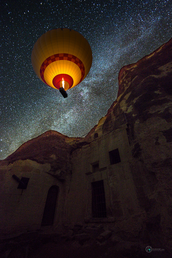 Photograph One light in the sky by husham alasadi on 500px