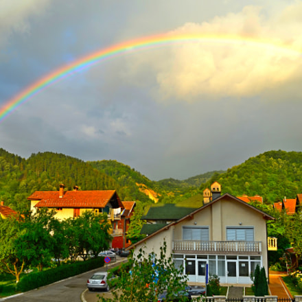 Rainbow over Maglaj