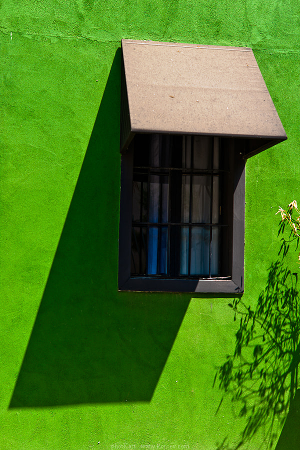 Green windows.