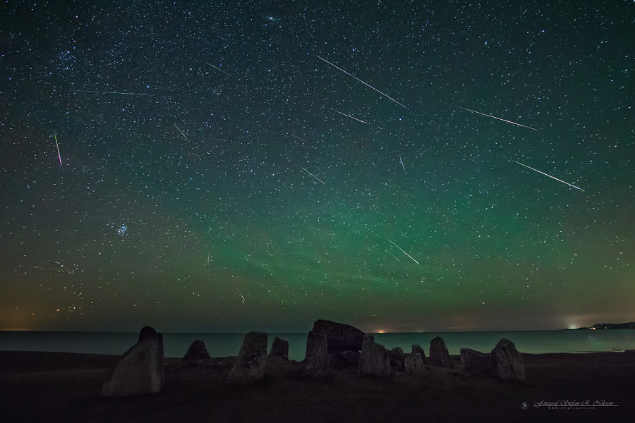 Photograph Perseid Meteor Shower 3000 B.C. by Stefan Nilsson on 500px