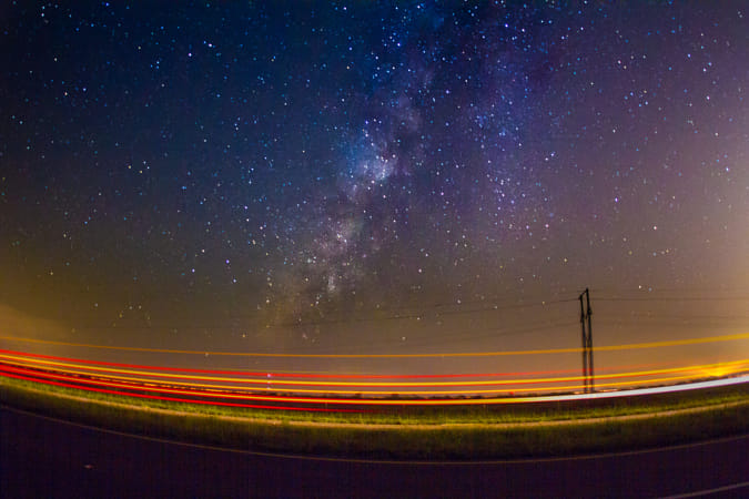 U.S.Route 441 under the Milky Way