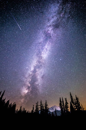 Perseid over Rainier by Kimberly Potvin on 500px