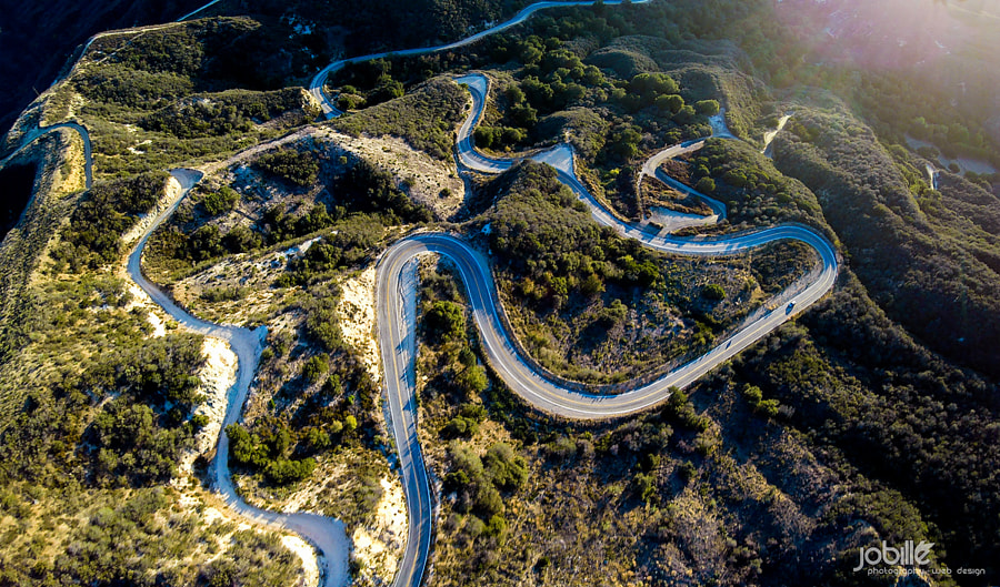 zig zag tujunga canyon road by Jerome Obille on 500px.com
