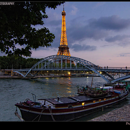 Eiffel Tower and Passarelle Debilly