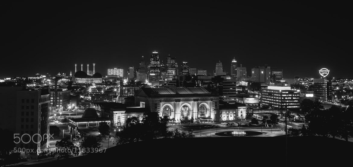 Photograph Kansas City Lights (B&W) by Hayden Gascoigne on 500px