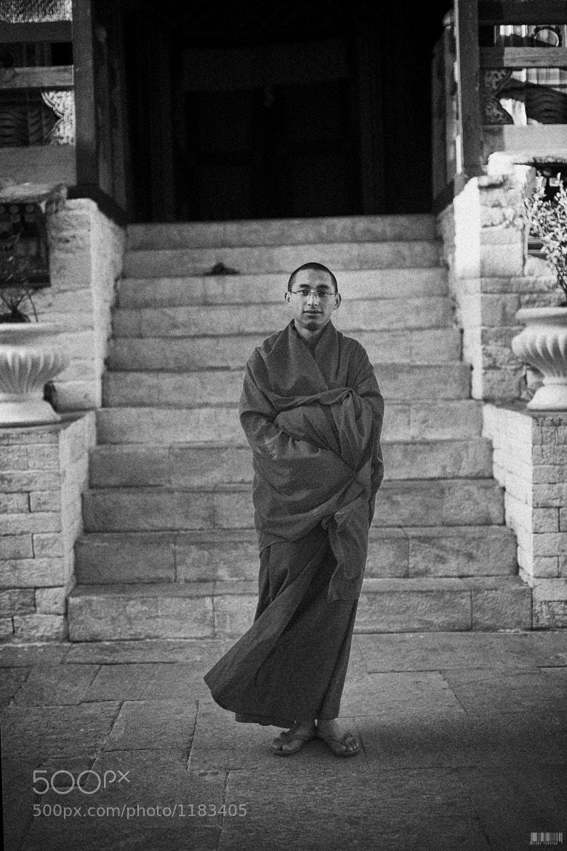 Photograph monk, thimphu bhutan, 2011 by  momofuku on 500px