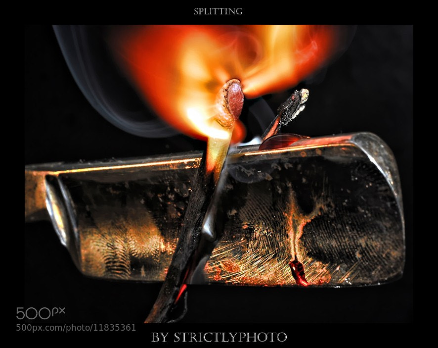 Photograph splitting fire by Patrick Strik on 500px