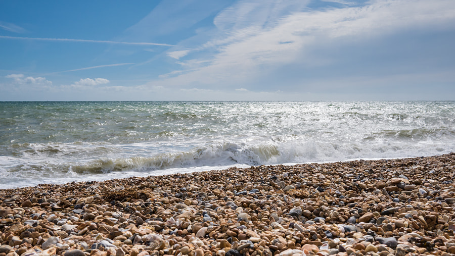 __Brighton's Shingle Beach and Sea__