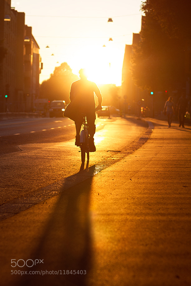 Photograph Sunset Bicycle Man by Nichlas Wærnes Andersen on 500px