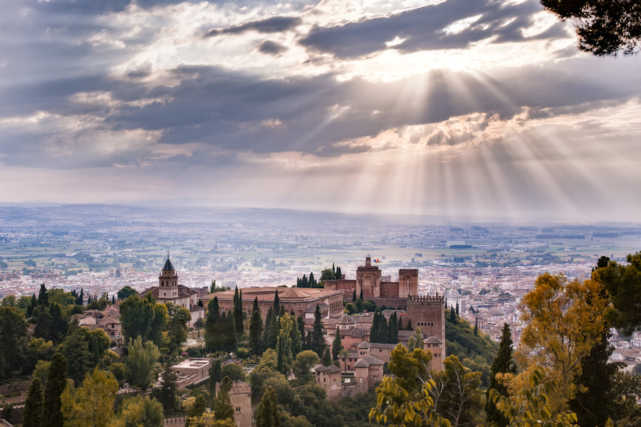 Photograph Overlooking the Alhambra Palace - Granada by Daniel Nahabedian on 500px