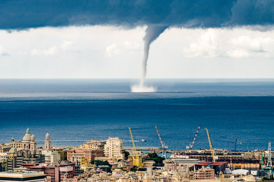 Tornado in port Genova by Evgeny Drokov