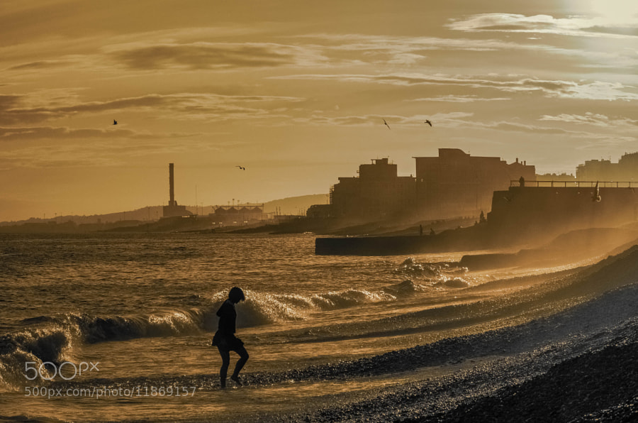 Photograph Brighton Beach - Sepia Sunset by julian john on 500px