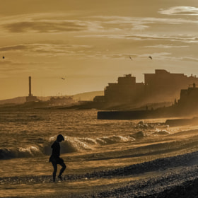 Brighton Beach - Sepia Sunset by julian john (sandtasticdays)) on 500px.com