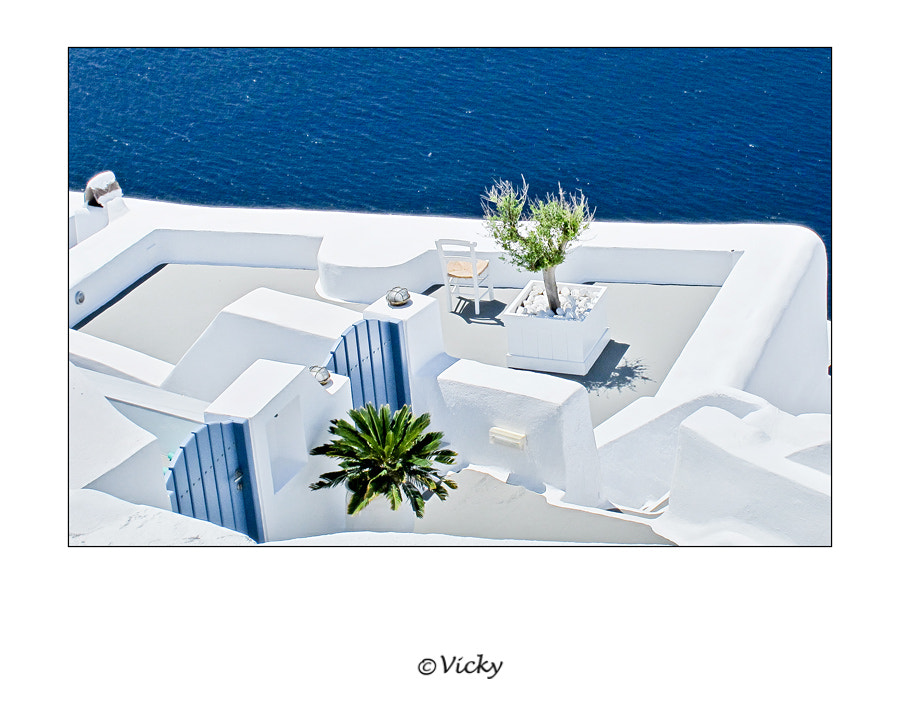 Photograph terrace, Santorini by Vicky Dens on 500px