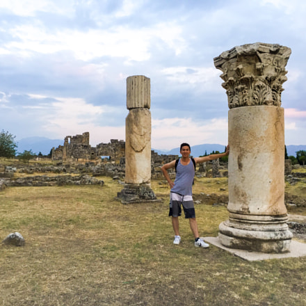 Column from Ancient Roman Ruins in Pammukale, Turkey