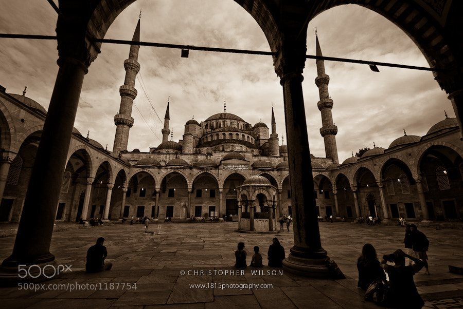 Photograph Blue Mosque Courtyard by Christopher Wilson on 500px