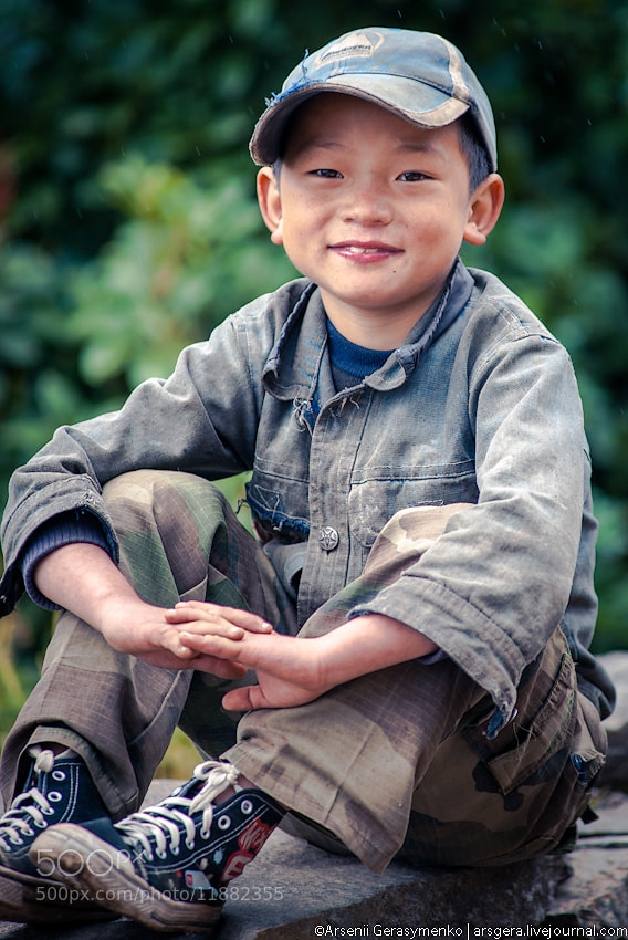 Photograph Village boy Portrait. Nepal, Himalaya by Arsenii Gerasymenko on 500px