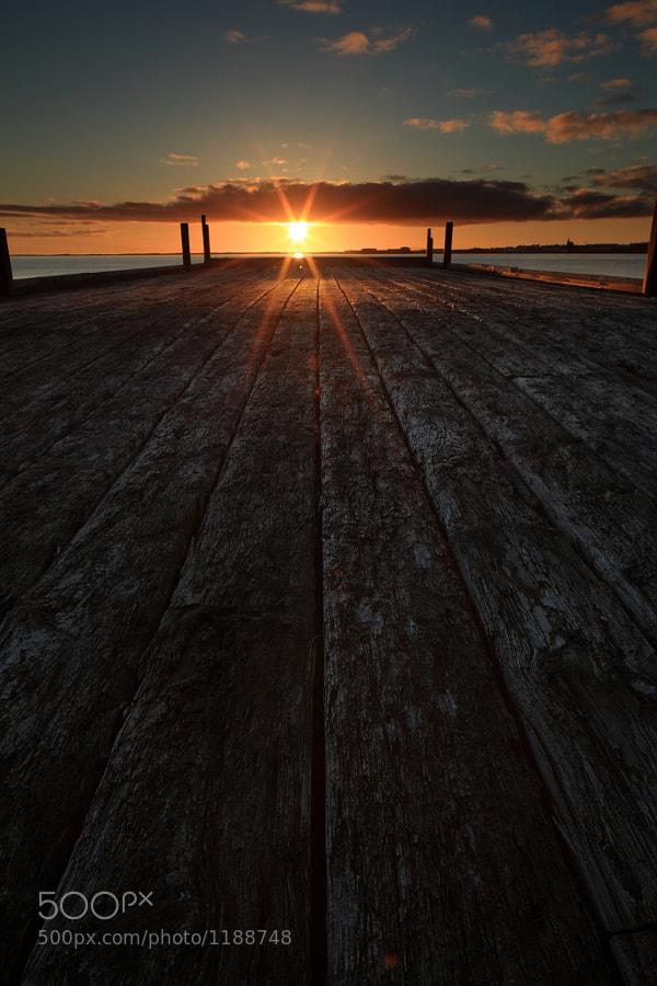 A pier close to Borgarnes