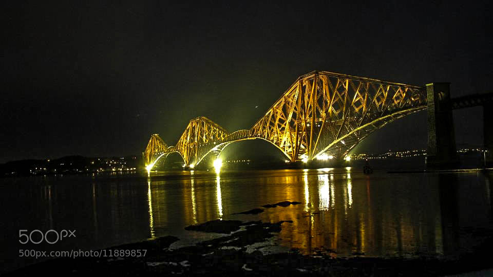 Photograph The Forth rail bridge by night by Andy Cabb on 500px