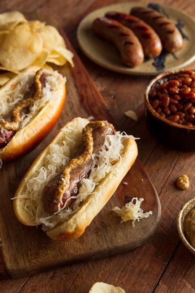 Beer Bratwurst with Sauerkraut by Brent Hofacker on 500px.com