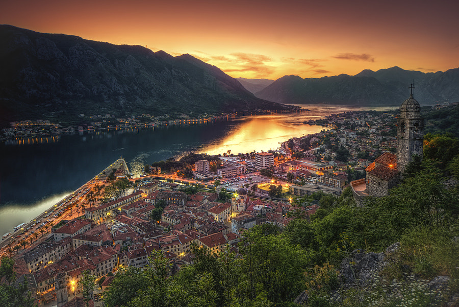 Montenegro, Kotor sunset by Gian Paolo Chiesi on 500px.com
