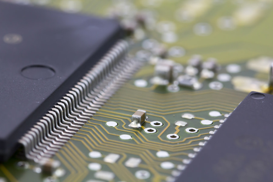Microchips in a motherboard by Jordi Clave on 500px.com