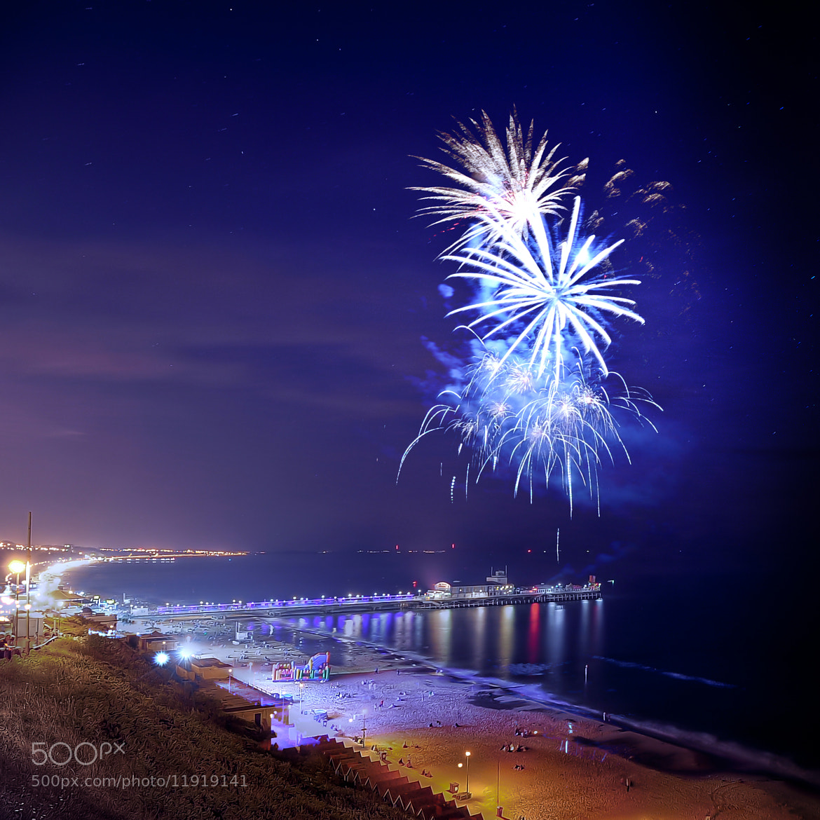 Photograph Bournemouth summer firework. by Ethan L on 500px