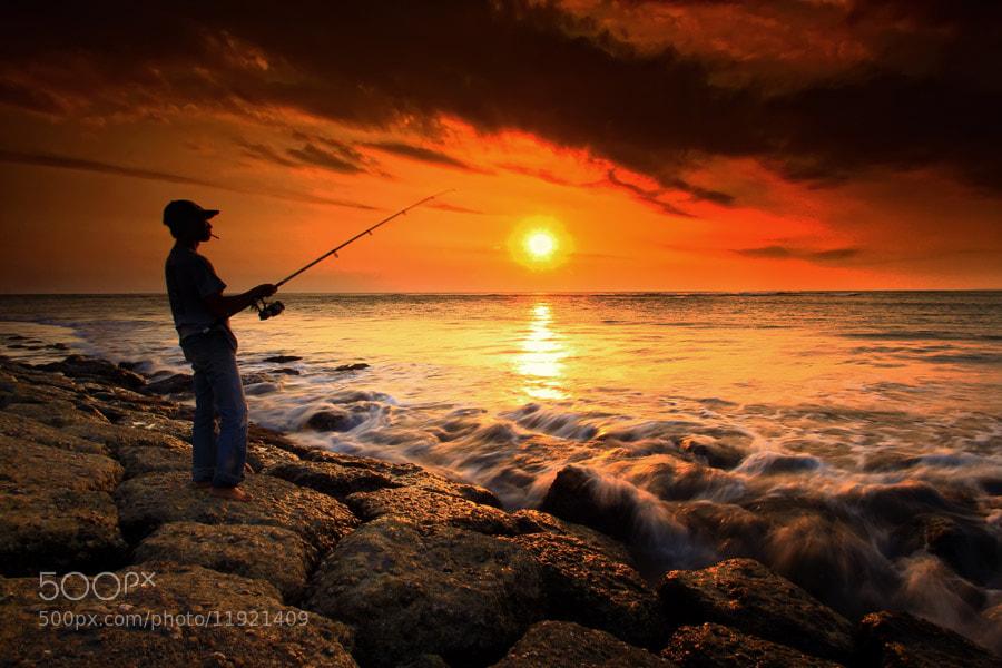 Photograph Sunset & Fisherman by Linggar Saputra Wayan on 500px
