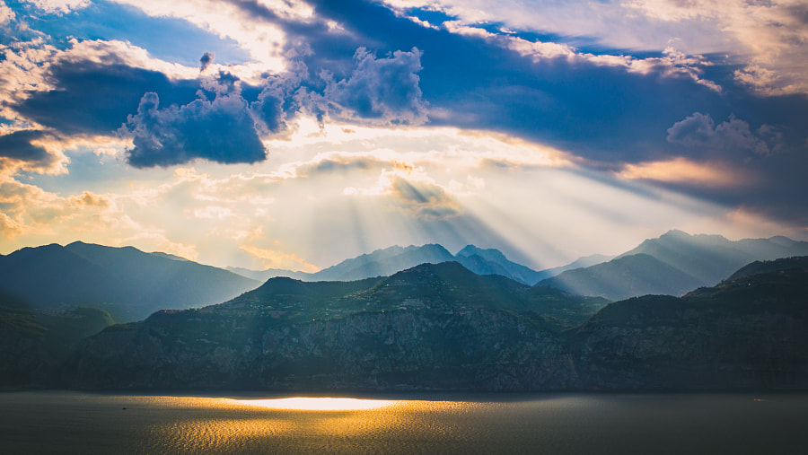 Photograph Angel Rays over Lake Garda by Ben  Hughes on 500px