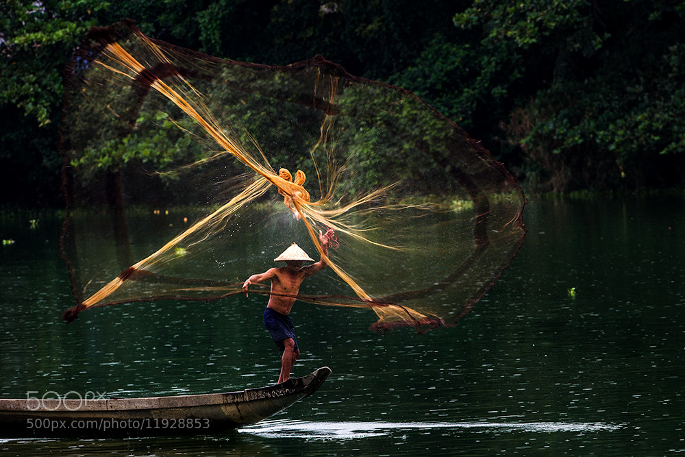Photograph Fishermen on the Nhu Y river  by Hai Thinh on 500px
