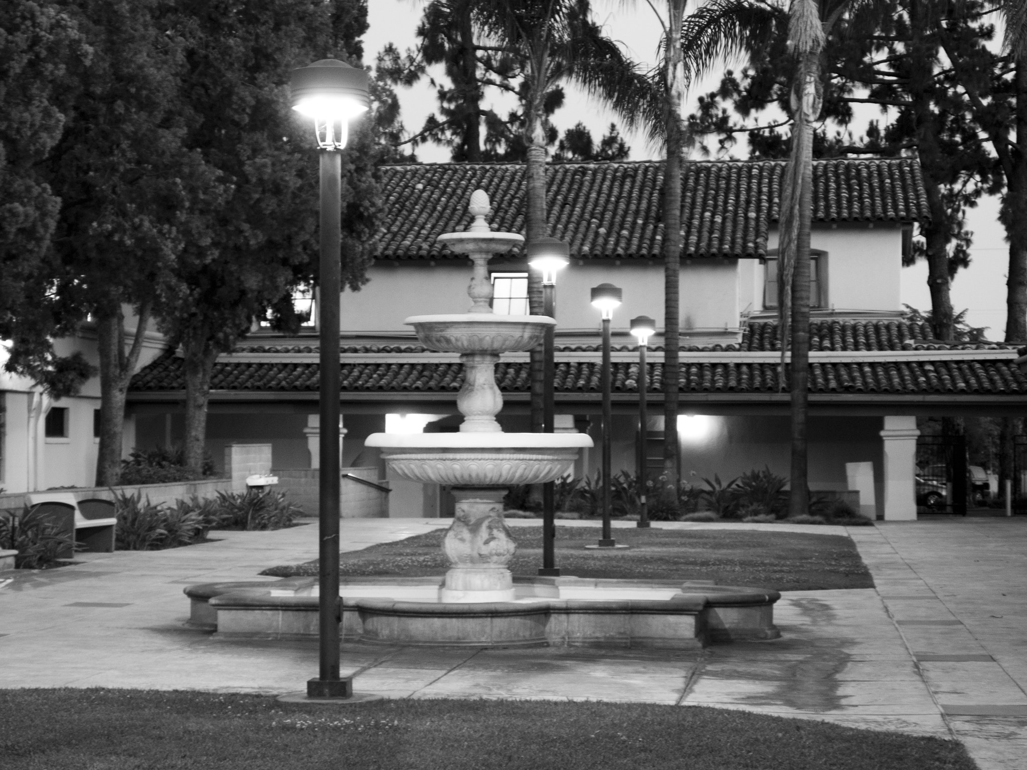 Photograph Courtyard Fountain by David Liao on 500px