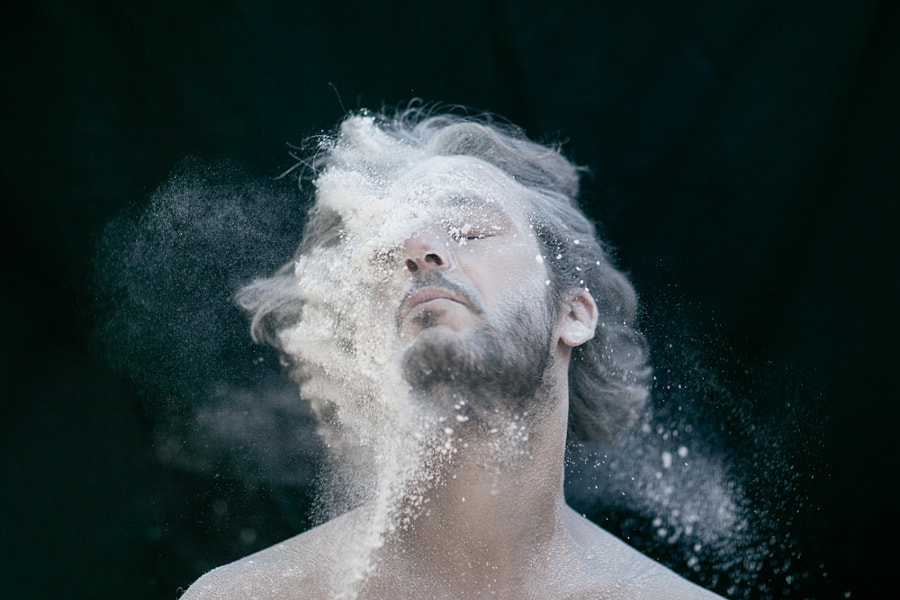 EXPLOSIVE Flour Portraits by Emilie Möri on 500px.com