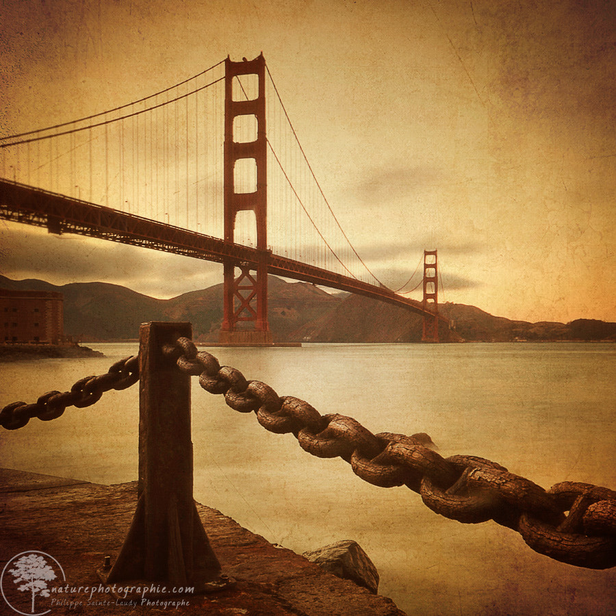 Photograph Vintage Golden Bridge by Philippe Sainte-Laudy on 500px