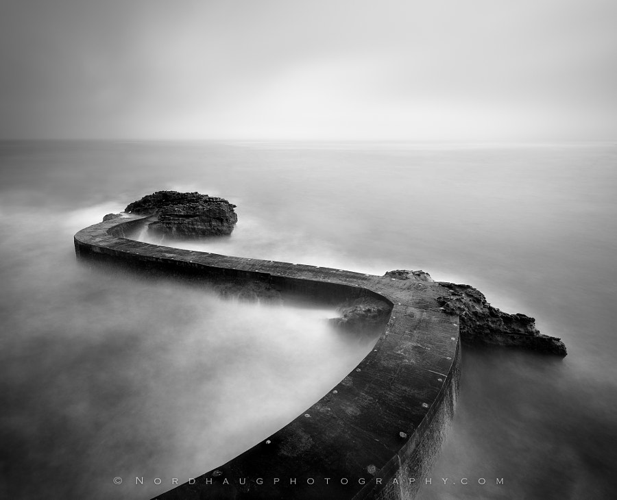 Fine Art Black and White Landscape Photography Jetty study 1 by nature and landscape photographer Dag Ole Nordhaug
