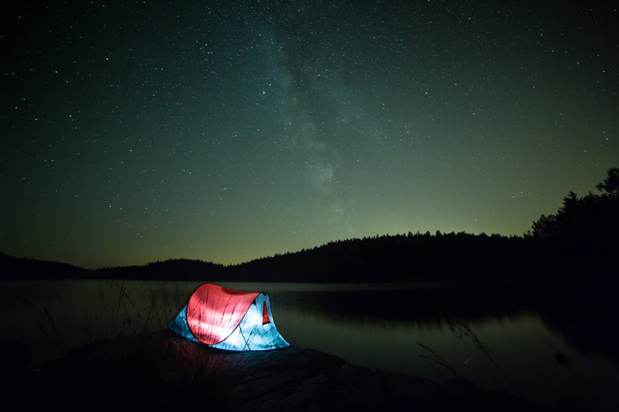 Camping by the lake by Klas Alstrom on 500px.com