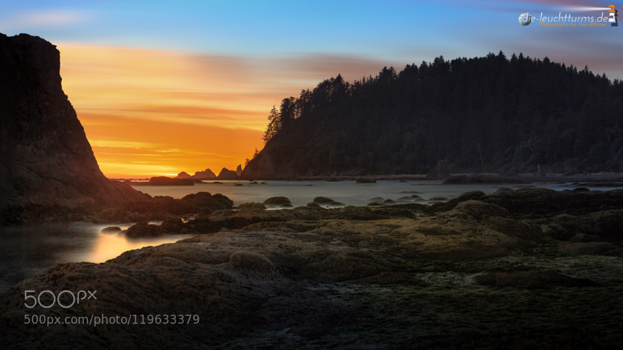 Rialto Beach at dusk